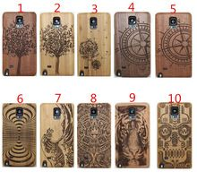 for Samsung Galaxy Note 4 Luxury Wood Wooden Tree Wave Skull Design 2 in 1 Hard Back Cell Phone Fundas Case Cover(China (Mainland))