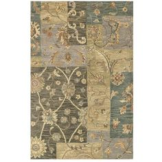 Loloi 'Maple' Area Rug (¥10,760) ❤ liked on Polyvore featuring home, rugs, green multi, floral rug, plush area rugs, plush rugs, maples area rugs and patchwork rugs