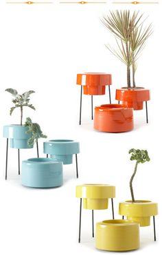 Aluminum planters. Fantastic colours.