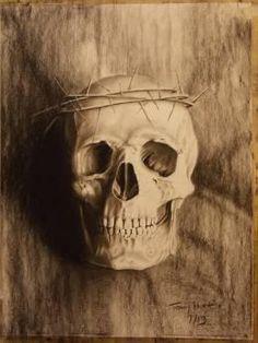 """Skull"" #Creative #Art in #sketching @Touchtalent"