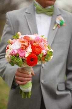 ranunculus and tulip bouquet