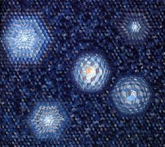 Those Cosmic Blues, a quilt by Kuroha Shizuko, author of Japanisch Quilten (written in German).  posted at Needleprint | 2011