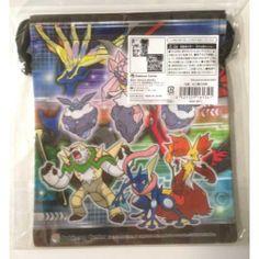 Pokemon Center 2014 Diancie Greninja Delphox Chesnaught & Friends Medium Size Drawstring Dice Bag
