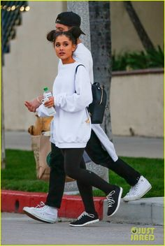 ARIANA GRANDE SHOPPING WITH RICKY AT WHOLE FOODS IN STUDIO CITY, CA