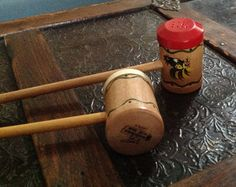 Wooden Barbeque Salt and Pepper Shakers