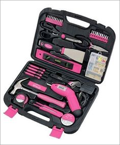 Apollo 135-Piece Household Pink Tool Kit- a portion of the proceeds go to help fund breast cancer awareness initiatives.