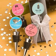 Personalized 50th Birthday Bottle Stopper Favors