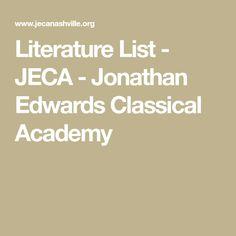 jonathan edwards classical academy
