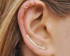 Set di 3 orecchio Climber Ear Cuff doppio polsino di Benittamoko
