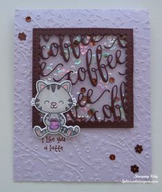 I Like You a Latte - Shaker Card by Stamping Kitty - Cards and Paper Crafts at Splitcoaststampers