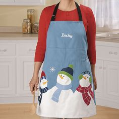 Personalized Christmas Apron - Zoom