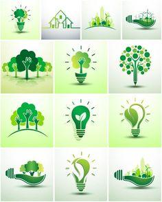 Logos Eco Vector Icons #RECOMUOC