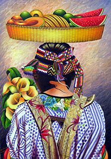Mujer camino al mercado. Guatemala ~ Ottoniel Chavajay