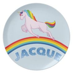 Jacque Plate for children - diy cyo customize create your own personalize