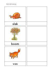 rijmen, eerste letter, lettergrepen