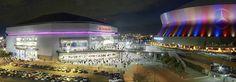 Smoothie King Center - New Orleans, LA Nba Arenas, Smoothie King Center, Indoor Arena, New Orleans Pelicans, Central Business District, Marina Bay Sands, Louisiana, Mercedes Benz, Exterior