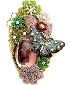 carolina_sharon (seller) e-bay.com  Huge Stanley HAGLER Enamelled Butterfly on Flowers Pin