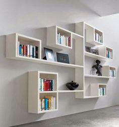 Rak Buku dinding kayu minimalis