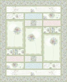 What a pretty layout to show off a pretty panel or a large motif print to be surrounded with smaller scale coordinating prints!