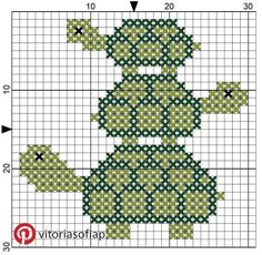Cross Stitch Pattern Sea Turtle