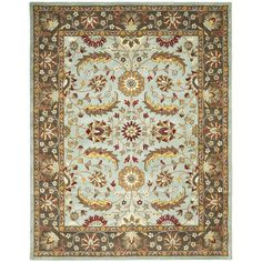 Handmade Heritage Blue/ Brown Wool Rug (5' x 8')   Overstock.com Shopping - The Best Deals on 5x8 - 6x9 Rugs