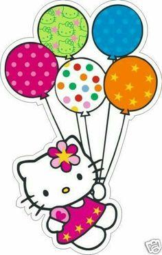Hello Kitty w/Balloons Hello Kitty Fotos, Hello Kitty Imagenes, Hello Kitty Art, Hello Kitty Birthday, Hello Kitty Pictures, Kitty Images, Anniversaire Hello Kitty, Hello Kitty Collection, Hello Kitty Wallpaper