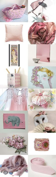 ** Most Romantic Gifts ** by Anna Margaritou on Etsy-- #etsy #treasury #pink #moses #basket #tote #bag #pillow Pinned with TreasuryPin.com