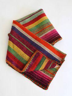Vintage Bolivian Frazada Blanket