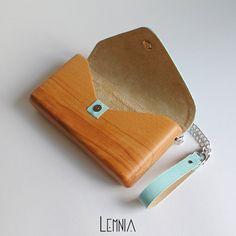 Lemnia Handcrafted Wooden Bag  Azzurra