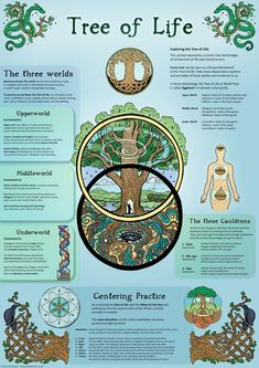 Items similar to Tree of Life - Infographic - Poster on Etsy Wiccan Spell Book, Wiccan Spells, Magick, Witchcraft, Mutter Erde Tattoo, Tree Of Life Meaning, Tree Images, Spirit Science, New Energy