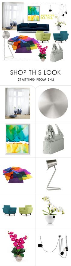 """Aquarius"" by julie-rawding ❤ liked on Polyvore featuring interior, interiors, interior design, home, home decor, interior decorating, Modern Forms, West Elm, Royal Copenhagen and Leitmotiv"
