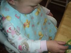 Sew Fruitful Extra Long Baby Bib-Ducks and by SewFruitful2012