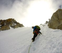 Chamonix, the north face from La Tour Ronde. Wonderful mountaineering option with great views.