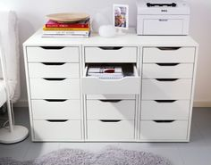 IKEA Fan favorite: ALEX narrow drawer units to make a printer table. IKEA Fan favorite: ALEX narrow drawer units to make a printer table. This little drawer unit is great for organizing any room of your home!