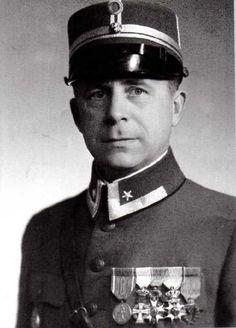 WW2 Norway 1940. The Norwegian commander at the Hegra fortress, major Reidar Holtermann