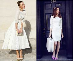 Little White Looks for a Shower, Rehearsal Dinner or City Hall - Aisle Perfect