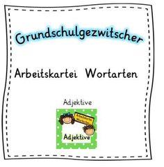 Die kurzen Arbeitsaufträge können zügig ins Deutschheft gearbeitet werden.Die Kartei kann zur Wiederholung, Festigung und Übung eingesetzt werden und eignet sich für offene Arbeitsphasen sowie zur Differenzierung und Förderung.Entsprechende Karteien zu Nomen und Verben (in zwei verschiedenen Farbvarianten) finden Sie ebenfalls in meinem Shop.Jede Kartei besteht aus 9 Aufgabenkarten und einer Titelkarte im A5-Format.FolgendeAufgabenfor...