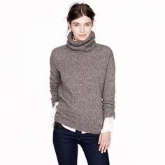 Nili Lotan® chunky turtleneck sweater  I like the grey, but I love white sweaters - I probably have too many of both...but I want!