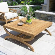 Made with Grade A Teak, Country Casual Teak Outdoor Coffee Tables are sturdy enough to sit on. Teak Coffee Table, Outdoor Coffee Tables, Teak Table, Teak Outdoor Furniture, Lounge Furniture, Furniture Ideas, Table Top Design, Coffee Table Design, Outdoor Cushions