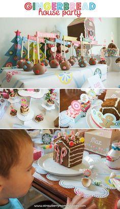 Gingerbread House Party with So Many Cute Ideas via Kara's Party Ideas | KarasPartyIdeas.com #GingerbreadHouse #ChristmasParty #PartyIdeas #PartySupplies