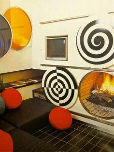 round fireplace