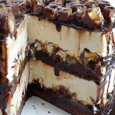 Peanut Butter Cookie Dough Brownie Layer Cake - Life Love and Sugar