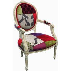 Basic Elegance Furnishings Ltd Patchwork Louis Roundback Novelty Chair [DER LOU RNDBK] - Add a bit of excitement to your lounge or bedroom, this louis patchwork...
