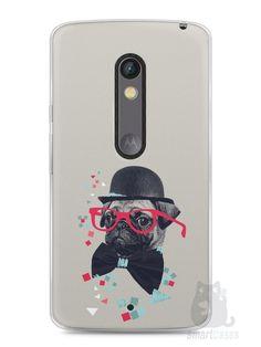 Capa Capinha Moto X Play Cachorro Pug Estiloso #1 - SmartCases - Acessórios para celulares e tablets :)