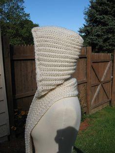 Nordic Hooded Scarf Crochet Pattern Pdf by nutsaboutknitting, $4.40