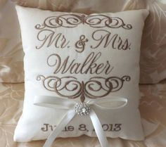 Hey, I found this really awesome Etsy listing at http://www.etsy.com/listing/153166941/mr-mrs-personalized-ring-bearer-pillow-i