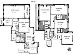 two bedroom den apartment OR condo penthouse plan - Google Search