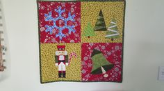 Christmas table topper paper piece class 2015