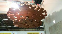 Kontosta tehty lampun varjostin by Taru Salonen