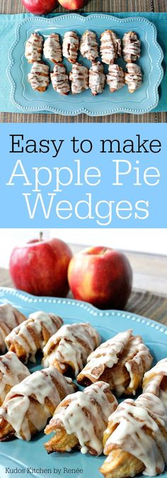 What do you get when you roll a sliced apple wedge in pie dough that has been brushed with lots of melted butter, sprinkled with cinnamon sugar, and baked until it's golden brown and crunchy? Cinnamon Sugar Apple Pie Wedges, that's what!